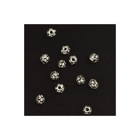 kovinske perle cca 7mm, srebrne b. 15kos
