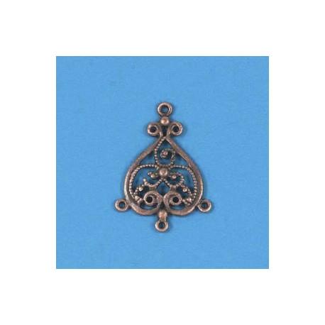 Kovinski ornamenti set 6, bakrene b.