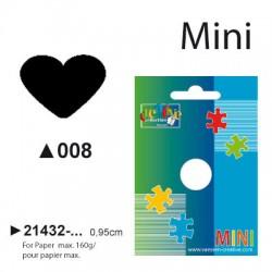 Luknjač Srce mini cca 0,95cm