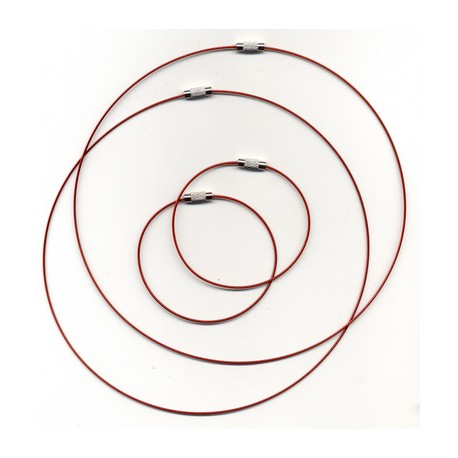 Obroč+zapestnica 45+18cm 2x2 kosa, Rdeča