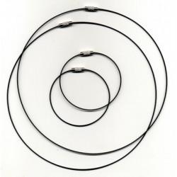 Obroč+zapestnica 45+18cm 2x2 kosa, Črna