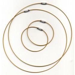 Obroč+zapestnica 45+18cm 2x2 kosa, Zlata