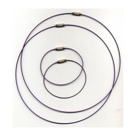 Obroč+zapestnica 45+18cm 2x2 kosa, Vijolična