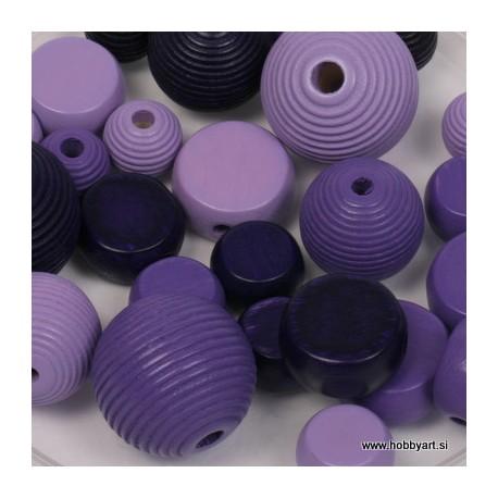 mešane vijolične 10-19mm 30 kos