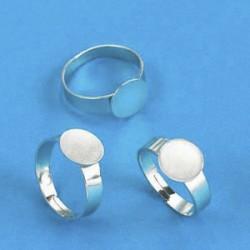 Nastavek za prstan, 10mm, 6 kos , platinaste b.