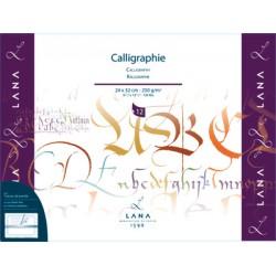 Blok za Kaligrafijo, bel 250g. 12 listov