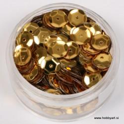 Bleščice za šivanje 6mm 6g, Zlata