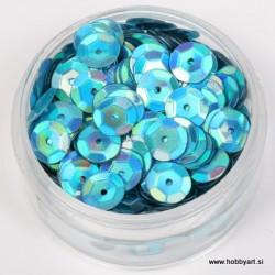 Bleščice za šivanje 6mm 6g, Karibsko modra