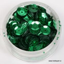 Bleščice za šivanje 6mm 6g, Zelena