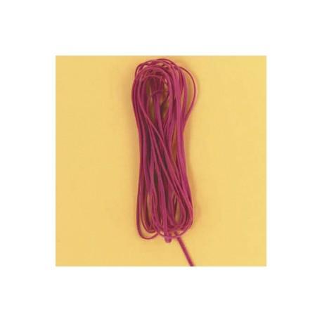 Velur vrvica 3mm x 5m, t. roza