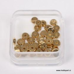 Metalni zaključni krogci pr. 4mm, Zlate b. 40 kos