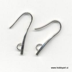 Kaveljčki za uhane masivni, Platinaste b. 2 kosa