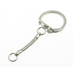 Obesek za ključe 25mm, Platinaste b.