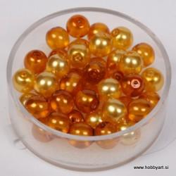 Kristalne perle 6mm, mešane Topaz, 40 kosov