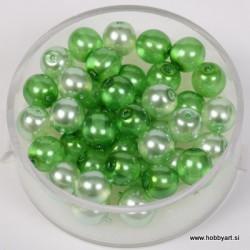 Kristalne perle 6mm, mešane Zelene, 40 kosov