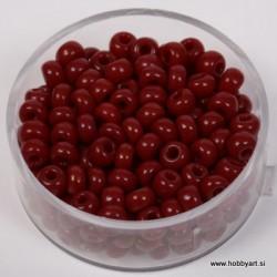 Perle neprosojne temno rdeče 4,5mm, 17g.
