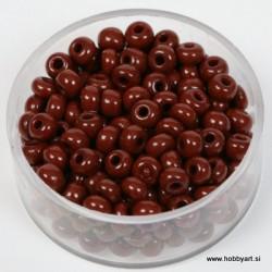 Perle neprosojne t. rjave 4,5mm, 17g.