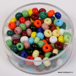 Perle neprosojne mešane b. 4,5mm, 17g.