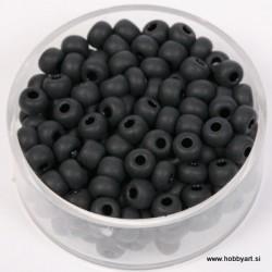 Perle mat Črne 4,5mm, 17g.