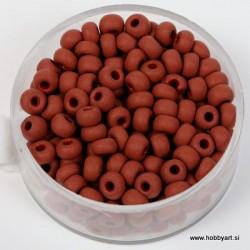 Perle mat Rjave 4,5mm, 17g.