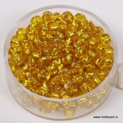 Perle srebrna sredica 4,5mm rumene 17g.
