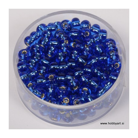 Perle srebrna sredica 4,5mm safir modre 17g.