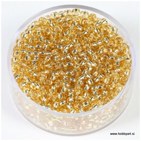 Srebrna sredica, zlate topas, 2,6mm 17g.