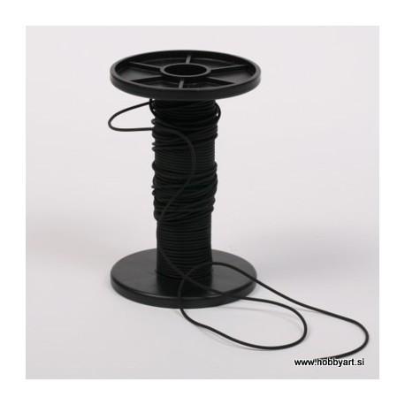 Vrvica iz kavčuka 1,2mm x 10m, Črna