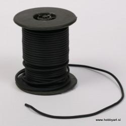 Vrvica iz kavčuka 2mm x 10m, Črna