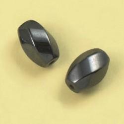 Magnetne perle, hematit b. 8 x 12mm, set 4