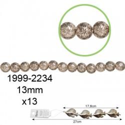 Kovinske perle velike Okrogle 13mm, 13 kosov