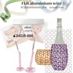 Ploščata aluminijasta žica 5mm x 1mm x 5m, Srebrna