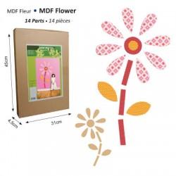 Roža XXL iz MDF lesa, 14 delna 100 x 200cm
