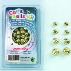 Zvončki 10, 12, 14, 18mm, 110 kosov Zlata b.