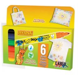 Javana marker za tekstil tanek 6 barv
