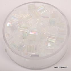 Tila perle 5 x 5 x 1,9mm, Transparentna biserna 6g.