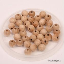 Lesene kroglice natur 10mm, 40 kos pr. luk 2,5mm