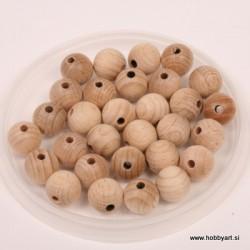 Lesene kroglice natur 12mm, 30 kos pr. luk. 3mm