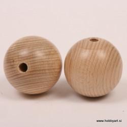 Lesene kroglice natur 50mm, 2 kos pr. luk. 8mm