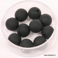 Polaris perle mat 10mm, Črna 10 kos