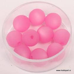 Polaris perle mat 10mm, Pink 10 kos