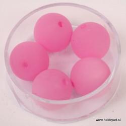 Polaris perle mat 14mm, Pink 5 kosov