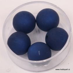 Polaris perle mat 14mm, Temno modra 5 kosov