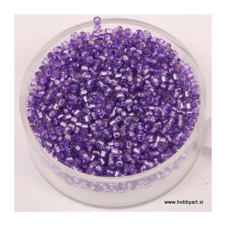 Delica perle 2mm, Sr. sredica purple 9g.