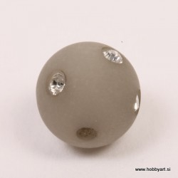 Polaris perla z biserčki 10mm, Siva 1 kos