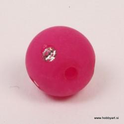 Polaris perla z biserčki 10mm, Fuksija 1 kos