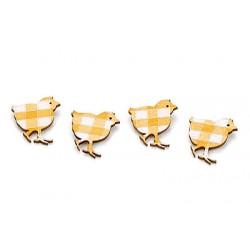 Lsseni lepilni okraski Piščančki 24 kosov 2,5cm, 6 kosov