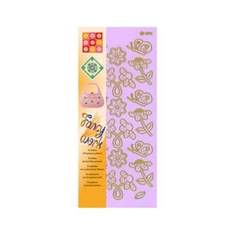 Komplet 10 nalepk Rože za tehniko prebadanja