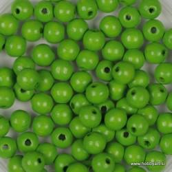 Lesene perle 4mm, Sv. zelene, 165 kosov