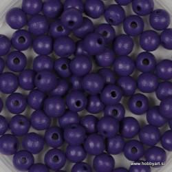 Lesene perle 4mm, Vijola, 165 kosov